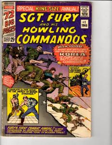 Sgt. Fury King Size Annual # 1 VG ERROR MISPRINT Marvel Comic Book Commandos RH3