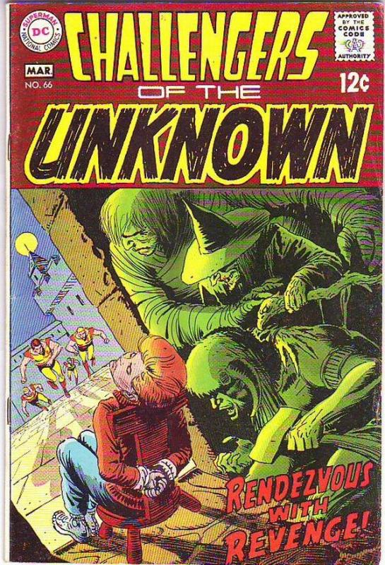Challengers of the Unknown #66 (Mar-69) VF- High-Grade Challengers of the Unk...