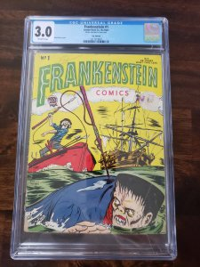 Frankenstein Comics 1 CGC 3.0 UK Edition only copy graded by CGC