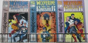 WOLVERINE AND THE PUNISHER: DAMAGING EVIDENCE (Marvel,1993) #1-3 VF-NM COMPLETE!