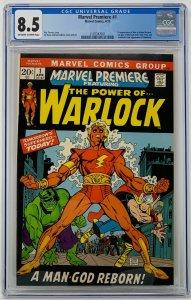 Marvel Premiere #1 CGC 8.5 Marvel Comics 1972. First App of Him as Adam Warlock.