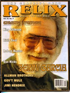 Relix 8/1995-Jerry Garcia-Grateful Dead-rock 'n' roll history-VG