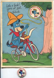 Huckleberry Hound 8 X 10 Promo Print With  about 1 1/4 Pinback Button-VG