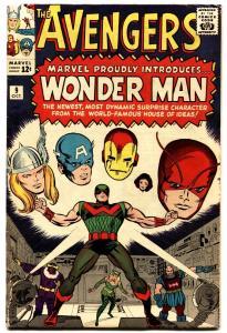 AVENGERS #9 comic book JACK KIRBY ART-MARVEL SILVER AGE-WONDER MAN