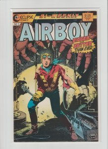 Airboy #3,8,9,12,18,21,23,44 Lot of 8 Eclipse Comics Avg. FVF 7.0 Great Books!!