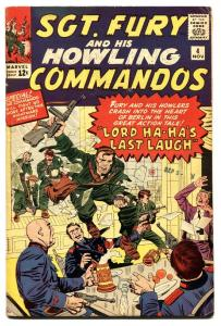 SGT FURY AND HIS HOWLING COMMANDOS-#4-1963-MARVEL-KIRBY ART-WWII