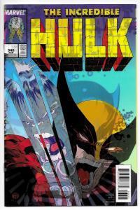 Black Panther #166 Lenticular 3D Variant Incredible Hulk #340 Homage (2017) NM