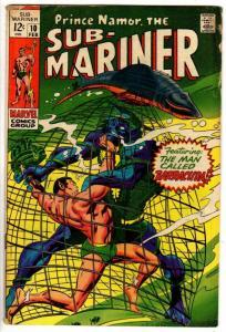SUB MARINER 10 GOOD PLUS  Feb. 1969 COMICS BOOK