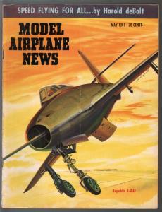 Model Airplane News 5/1951-Republic F-84F-photos-diagrams-builder tips-VG