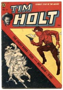 Tim Holt #21 1950-Frank Frazetta cover-Red Mask-Ghost Rider VG