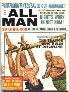ALL MAN-DEC 1966-COMMIE BONDAGE-TERROR-CHEESECAKE--PULP ART-CRIME
