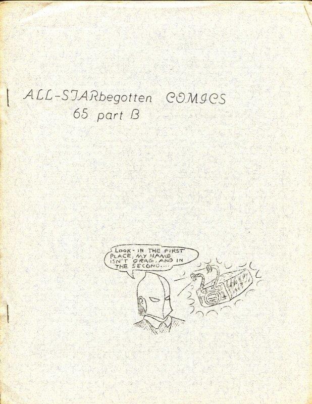 All-STARbegotten #6% Part B 1963-rare comics fanzine-4 page issue-FN