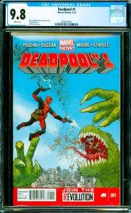 Deadpool #1 CGC Graded 9.8