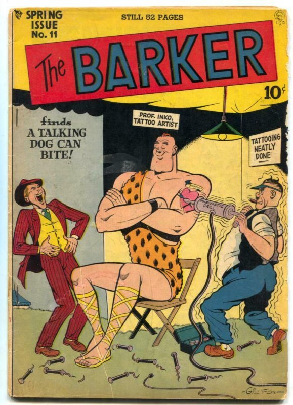 The Barker #11 1949- tattoo shop cover- Golden Age VG