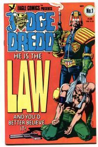 JUDGE DREDD #1-First issue 1983-Brian Bolland cover-comic book