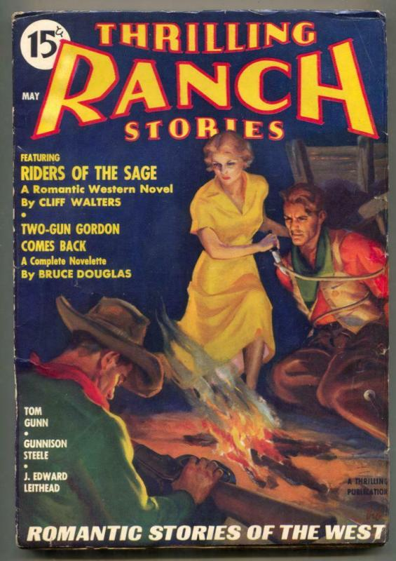 Thrilling Ranch Stories Pulp May 1936- Riders of the Sage
