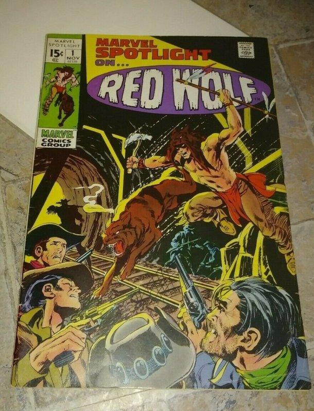MARVEL SPOTLIGHT   # 1 1971 MARVEL RED WOLF + AVENGERS