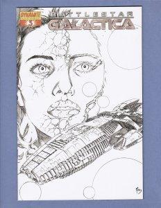 Battlestar Galactica #3 NM B&W Variant Cover Dynamite Comics 2006