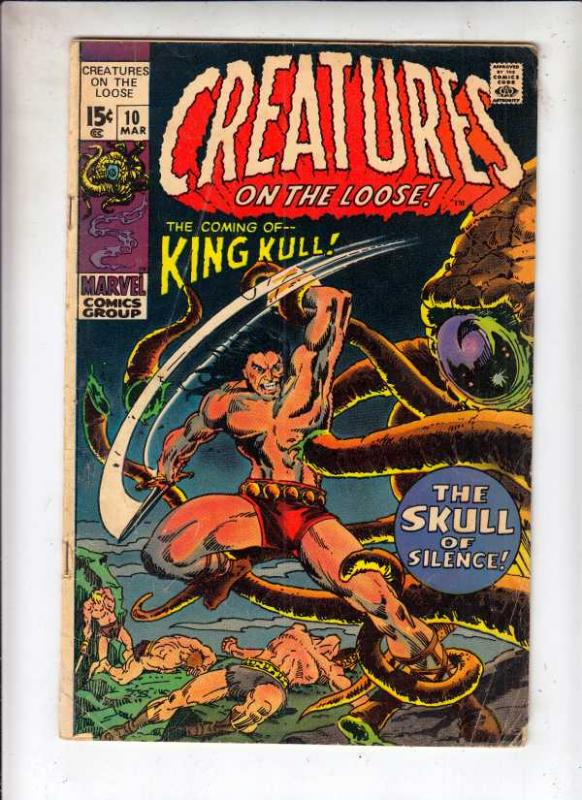 Creatures on the Loose #10 (Mar-71) VG+ Affordable-Grade King Kull