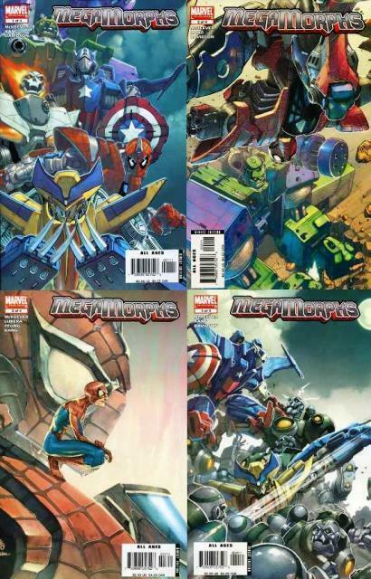 MEGAMORPHS (2005) 1-4  Toy tie-in series!