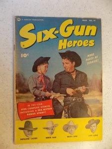 SIX-GUN HEROES # 19 GOLDEN AGE WESTERN HOPALONG LANE LARUE