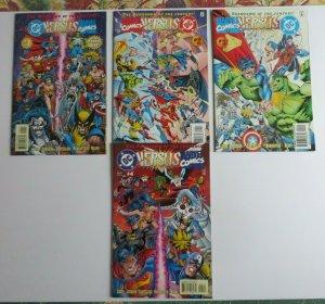 DC Versus Marvel Comics #1-4 Complete Set VF+ 1st Print Batman Spider-Man Lobo