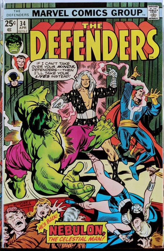 The Defenders #34 (1976) ETERNALS KEY! CELESTIALS APP!! HOT!