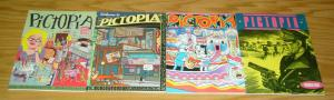 Pictopia #1-4 VF/NM complete series - fantagraphics - underground anthology set