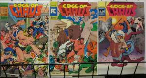 EDGE OF CHAOS (1983 PC)1-3 THE SET! Gray Morrow