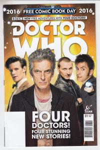 BBC Doctor Who Adventures with Four Doctors Unstamped NM- FCBD 2016