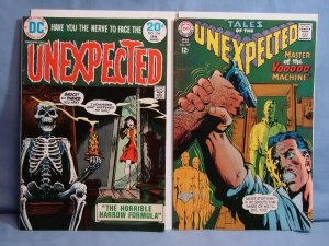 DC Comics TALES OF THE UNEXPECTED Issues #104 & #154 Silver Bronze Age Horror!!!
