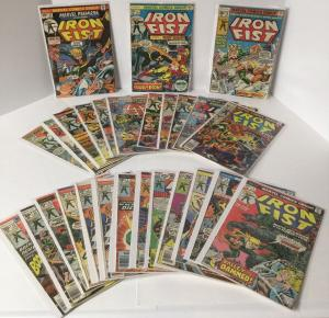 Marvel Premiere 15 15-25 Iron Fist 1 14 1-15 2.0-4.0 Marvel A33