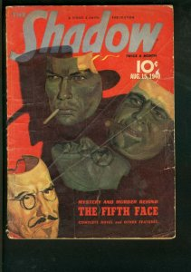 THE SHADOW 1940 AUG 15-THE FIFTH FACE-MASKS OF DISGUISE G