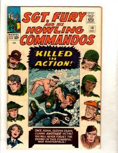 Sgt. Fury & His Howling Commandos # 18 VF Marvel Comic Book Hitler Nazis FM5