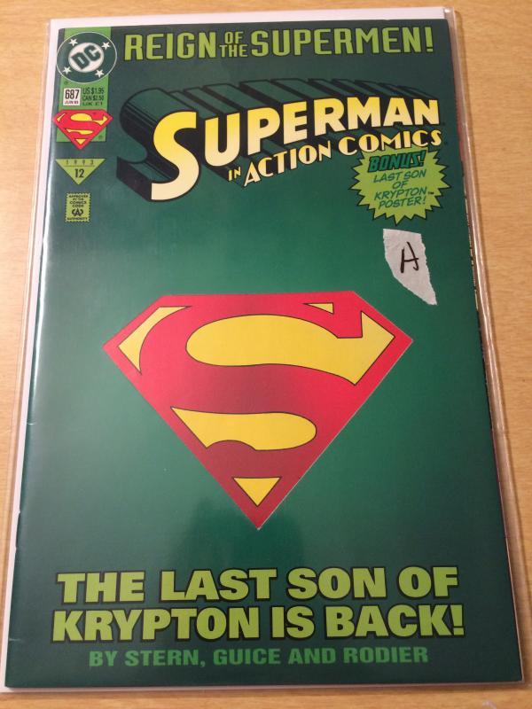 Superman in Action Comics #687 Reign of the Supermen / HipComic