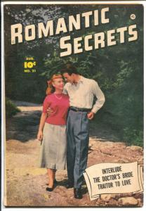 Romantic Secrets #21 1951-spicy art-photo cover-FN-