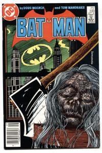 BATMAN #399 comic book-Decapitation cover-1986-DC