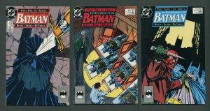 Batman #433, #434, #435 (Many Deaths of Batman Set)  1989