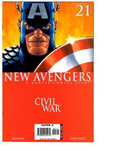 5 The New Avengers Marvel Comic Books # 21 22 23 24 25 Civil War Iron Man BH6