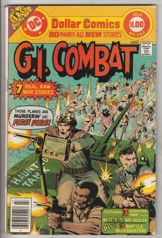 G.I. Combat #202 (Jul-76) FN/VF Mid-High-Grade The Haunted Tank