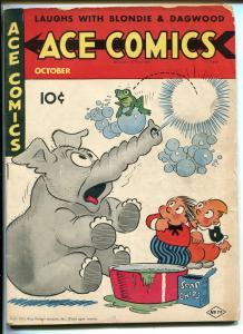 ACE COMICS #79 1943-DAVID MCKAY-PHANTOM-PRINCE VALIANT-BLONDIE-ELEPHANT-vg