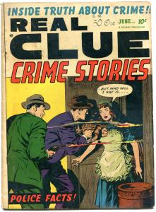 REAL CLUE CRIME STORIES V7 #4, VG-, 1952, Golden Age, Pre-code, more in store