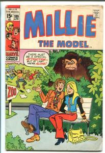 MILLIE THE MODEL #189 1971-MARVEL--FASHIONS-GOOD GIRL ART-SPICY-GIANT APE-vg