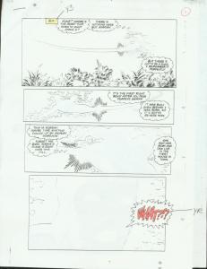 ORIGINAL D.C. PRODUCTION ART NEW TEAM TITANS #6 PAGE 9 VG