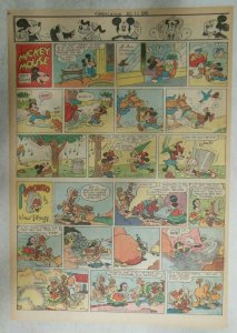 Mickey Mouse Sunday Page by Walt Disney from 7/15/1945 Tabloid Page Size