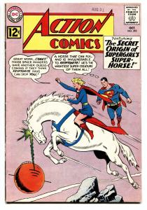 ACTION #293 comic book 1962-SUPERMAN-SUPERGIRL ON SUPERHORSE