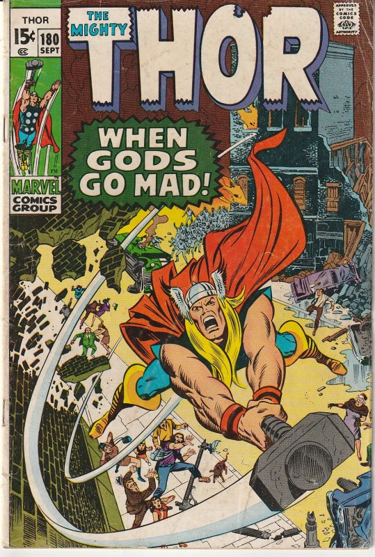 Thor(vol. 1)#180  Freaky Friday, Asgardian Style !