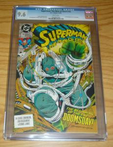 Superman: the Man of Steel #18 CGC 9.6 first appearance of doomsday - 1st key