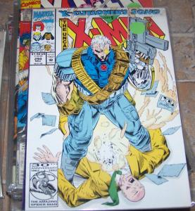 UNCANNY X-MEN #294 1992 marvel x-cutioners song pt 1 cable + PREY CARD xavier