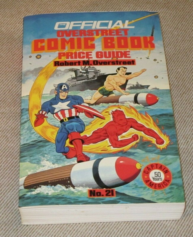 Official Overstreet Comic Book Price Guide #21 VF+ Captain America Human Torch